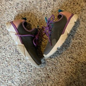 DSG Grey Purple and Pink Tie Sneakers Size 2